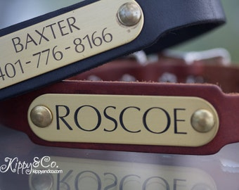 Personalized Pet Collar //  Leather Dog Collar // Engraved Dog Collar // Personalized Leather Dog Collar // Leather Collar // Dog Collar