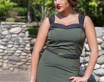SALE! Cute Army Green  Wiggle Dress!!!!