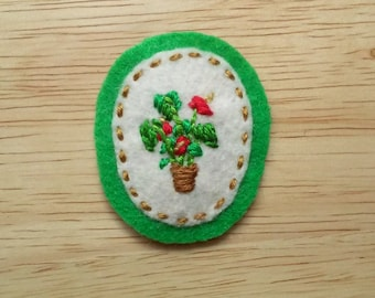 Houseplant: Anthurium (Patch, Pin, Brooch, or Magnet)