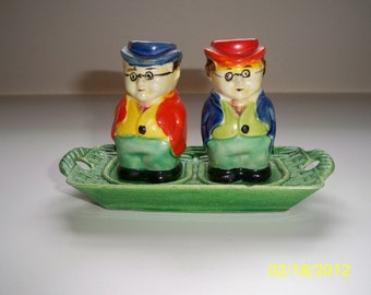 Two Guys Salt and Pepper Shakers / Vintage Shakers / Japan