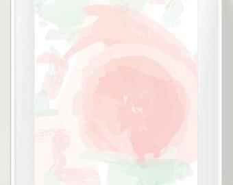 Blush and Mint Nursery Decor, Pastel Nursery Art, Abstract Nursery Decor, Pastel Colors, Modern Nursery Art, Abstract Art, Pink and Green