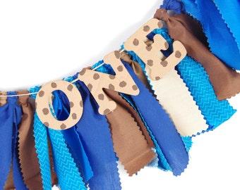Cookie Monster Birthday Decor - First Birthday Decor - Name Banner - Birthday Banner - Garland - Photoshoot Prop