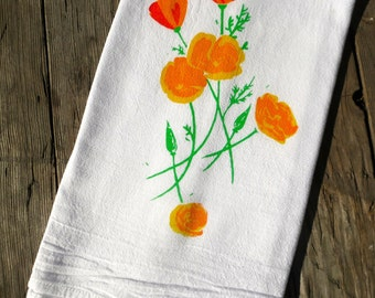California Poppy Flour Sack Towel