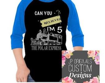 The Polar Express Birthday Shirt