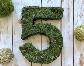 """Moss Number for Garden or Woodland themed parties/prop 12"""""""