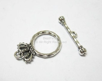 10sets Crown toggle clasp Antique silver Toggle clasps Bracelet connector