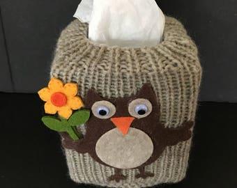 Tissue box cover, owl