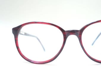 Round Red Glasses Womens Eyeglasses 1980s Readers Optical Frames Geek Chic Fake Optical Frames Womens Teens Girls 80s Eighties Hipster