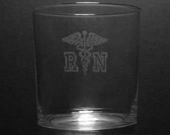 Registered Nurse 13 Ounce Rocks Glass