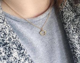 Petite Saturn Necklace