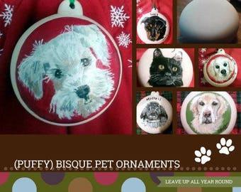 animaux d'ornement, ornement de biscuit, ornement de Noël pour animaux de compagnie, animal portrait ornement, vert, rouge, ornement animal personnel, cadeau d'amoureux des animaux de compagnie, cadeau pour animaux de compagnie