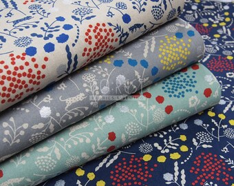 Echino 2018SS sprout cotton linen Japanese Fabric - 50cm