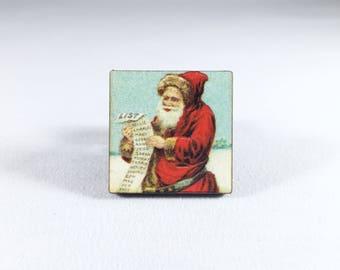 Santa Pin, Christmas Pin, Father Christmas, Santa Claus Pin, Kris Kringle, Vintage Christmas, Christmas Gift