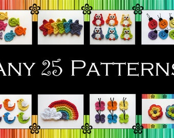 Your Choice of 25 Crochet Patterns (PDF)