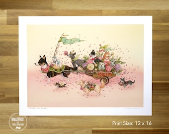 Portland Pup Parade (LARGE) - Fine Art Print by Nicole Gustafsson