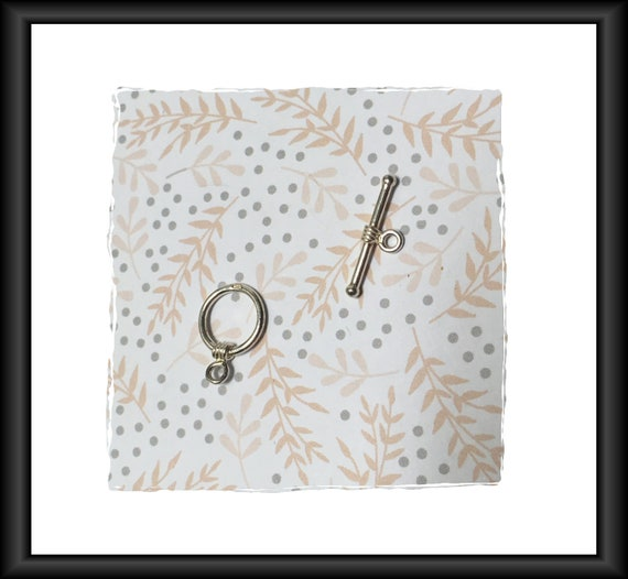 Silver 18 mm Toggle Clasp