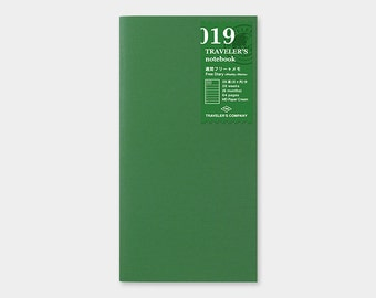 Midori Traveler's Notebook Regular Size 019 Weekly Plus Memo Refill