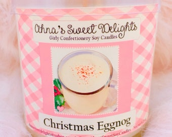 Christmas Eggnog  Girly Confectionery Soy Candle