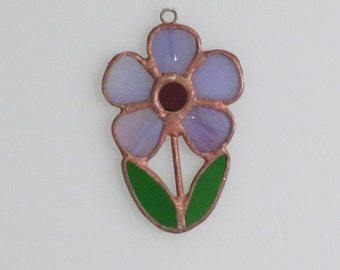 Stained Glass Purple Flower Suncatcher (small)