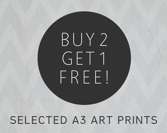 A3 | Buy 2 Get One Free Art Prints | Contemporary Art Prints, Wall Art, Home Decor, A3 Prints by Carla Tracy Illustration
