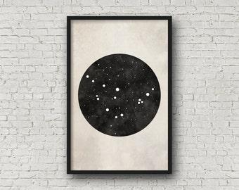 Zodiac Sign, Capricorn Constellation, Capricorn Art, Zodiac Art, Zodiac Constellation, Art Print Poster, Wall Art Prints