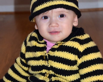 Bumble Bee Sweater and Hat Photo Prop