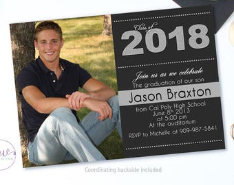 Graduation Invitation, Graduation Party Invitations, High School Graduation Announcement, Graduation Announcement College, Graduation 2018