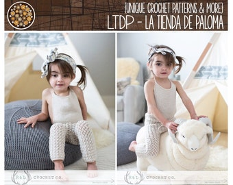 INSTANT DOWNLOAD - Crochet Pattern for Isabella Overalls