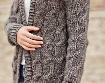 Jennifer's Glitz Cardigan Knitting Pattern