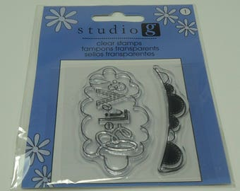 Believe Cloud And Banner Unmounted Clear Stamp Set from Studio G