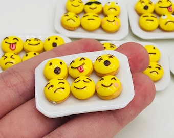 Miniature Donuts Emoji style for doll's house collection