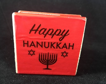 Happy Hanukkah Rubber Stamp - New