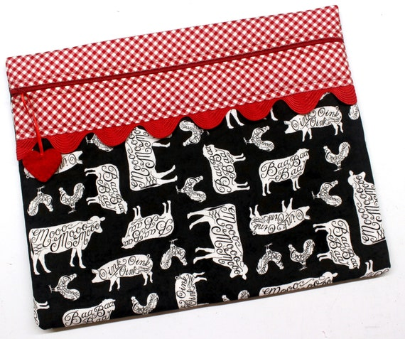 Oink Baa Moo Cockadoodle Doo Cross Stitch Embroidery Project Bag