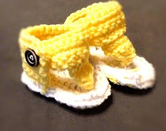 Crocheted Infant Gladiator Sandals