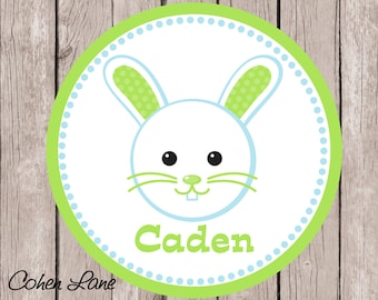 Printable Personalized Easter Bunny iron on Tshirt Transfer Design.  Easter Iron On Transfer.  Personalized iron on. Easter Bunny Shirt.