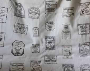 Yuwa French Labels Cotton Fabric  816840G