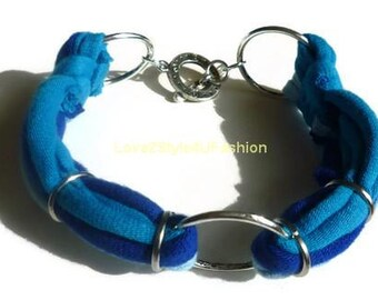 Womens Bracelet, Arm Candy, Jewelry, Hemp Jewelry, Gift for Her, Bracelet, Best Friend, Stacking Bracelet, Love2Style4UFashion - Blue