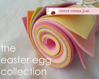 9x12 Wool Felt Sheets - The Easter Egg Collection - 8 Sheets of Felt