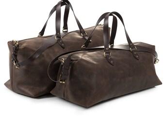 Leather Weekender Bag by Kruk Garage Travel bag Leather Carryall Flight cabin bag Overnight bag Large bag Mens bag Sport bag Duffel bag