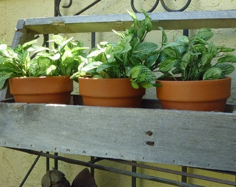 Reclaimed Wood Garden Tote Plant Holder