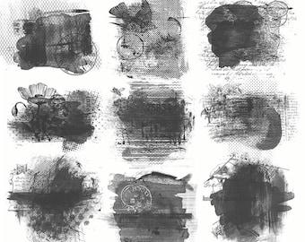 Photoshop Brushes - Amalgamation 1 - Art Journaling & Mixed Media Brushes and Masks