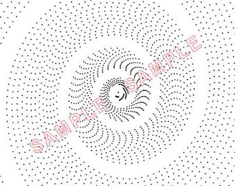 Plotadots - set of five - Logarithmic Spirals