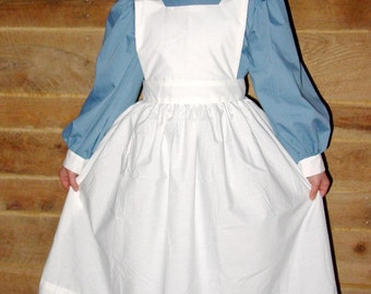 Williamsburg Historical Costume Old Fashioned -Dusty Blue Civil War Nurse- Child Size