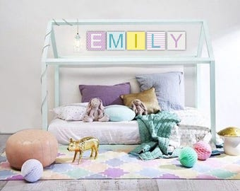 Baby Nursery Name canvas art Personalized