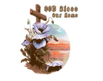 God Bless Our Home 1 Cross Stitch Chart