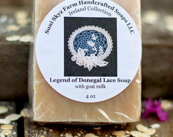 Donegal Lace Soap - Irish Soap - Ireland Collection - Spa Soap - Goat Milk Soap - Natural Soap - Handmade Soap - Suni Skyz Farm Soap