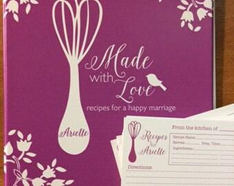 bridal shower recipe binder bridal shower recipe cards bridal shower