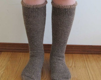 Extreme Alpaca wool socks - Super cozy warm and soft socks Size LARGE