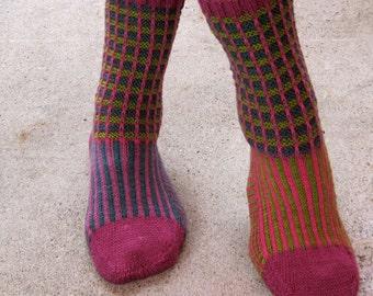 Knit Sock Pattern:  Amanda's Favorite Funky Knit Sock Pattern