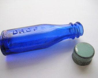 Antique Vicks Drops Bottle with Zinc Cap